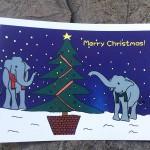ぞうさんのクリスマスカード2