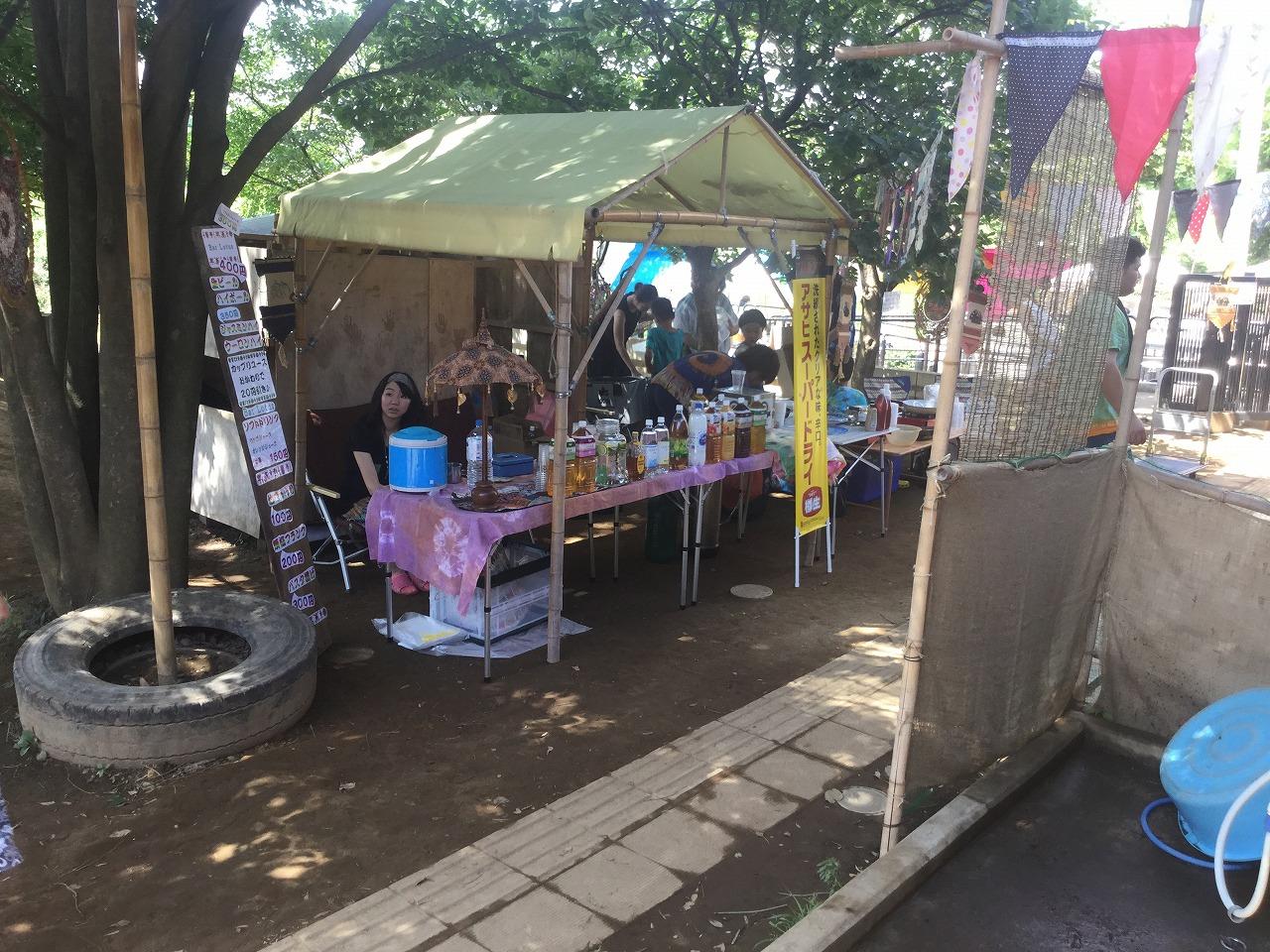 蓮祭竹テント